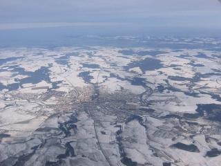 Pohled od jihu na město Havlíčkův Brod